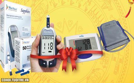 Combo máy đo đường huyết, máy đo huyết áp giảm 46%