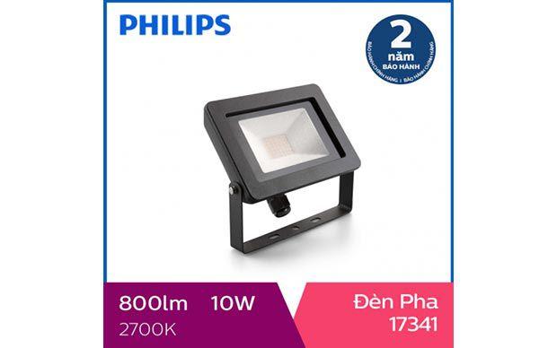 Đèn pha Philips LED ngoài trời My Garden 17341 10W 2700K - Ánh sáng trung tính