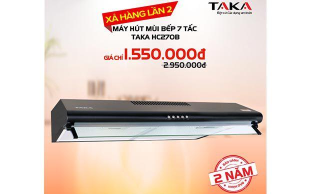 Máy hút mùi bếp nhập khẩu TAKA khuyến mãi