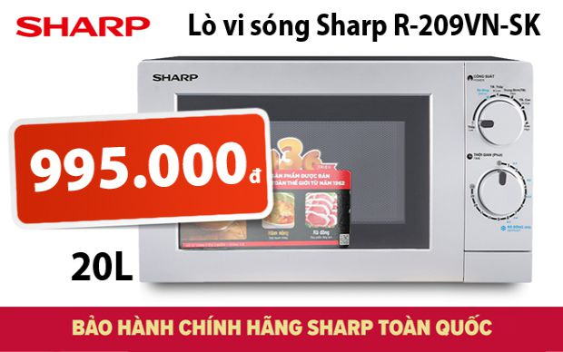 Xả kho lò vi sóng Sharp R-209VN-SK dung tích 20L