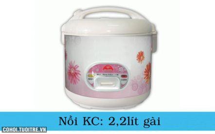 Nồi cơm điện Kim Cương nắp gài 2.2L/G