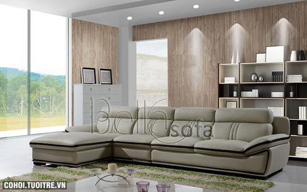 Sofa 1310 chất liệu da bò
