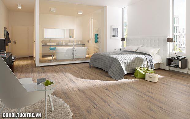 Sử dụng sàn gỗ công nghiệp cho nhà bếp, nhà tắm