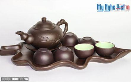 Bộ bình trà gốm Bát Tràng - Nét văn hóa của người Việt
