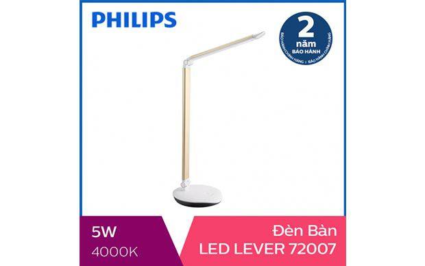Đèn bàn, đèn học chống cận Philips LED Lever 72007 5W