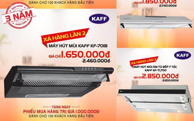 Máy hút mùi bếp nhập khẩu KAFF khuyến mãi