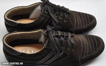 Giày cột dây da lộn TH695N