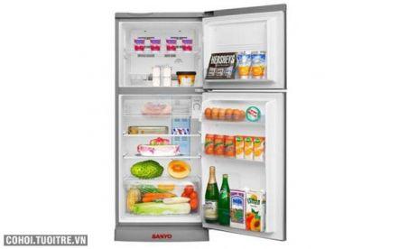 Tủ lạnh Sanyo 165L làm đá nhanh, không đóng tuyết