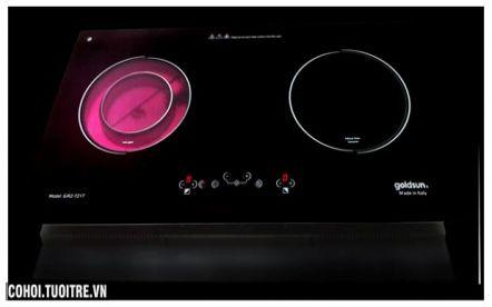 Bếp đôi hồng ngoại và điện từ Goldsun GIR2-721T