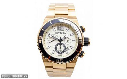 Invicta 15341 - đồng hồ nam, dây thép không gỉ (vàng)