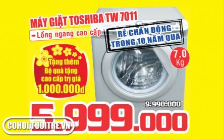 Máy giặt TOSHIBA 7 KG TW7011