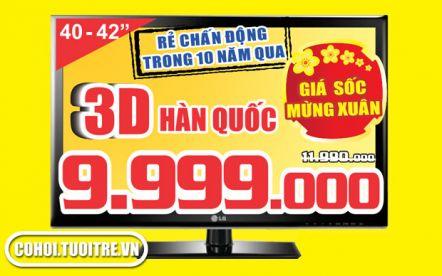 Tivi Plasma 3D màn hình 40 - 42inch thương hiệu Hàn Quốc