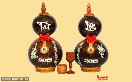 Rượu dừa hồ lô Tài Lộc