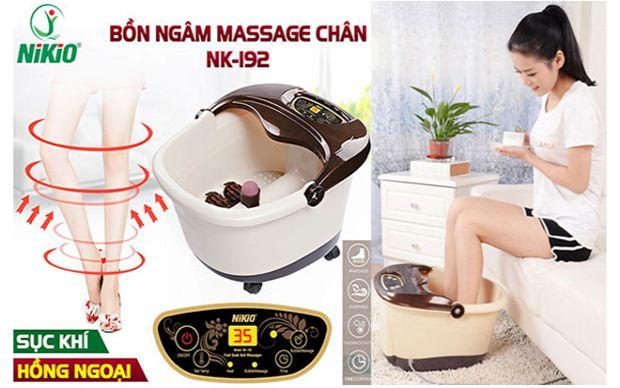Bồn ngâm chân massage tự động Nhật Bản Nikio NK-192 – 4in1