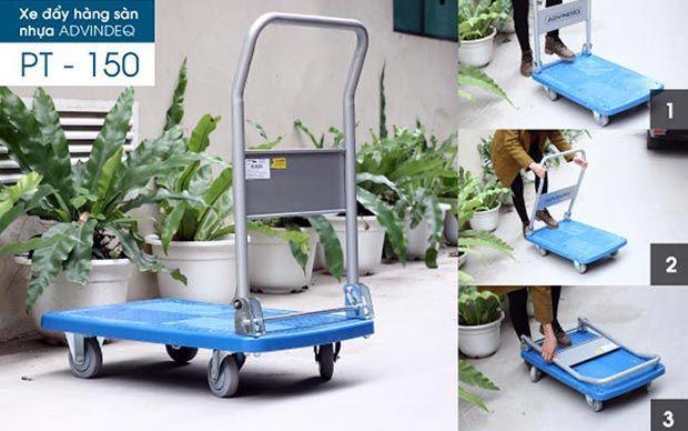 Xe đẩy hàng 4 bánh sàn nhựa ADVINDEQ PT-150