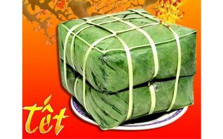 Bánh chưng Việt với gạo nếp cái hoa vàng