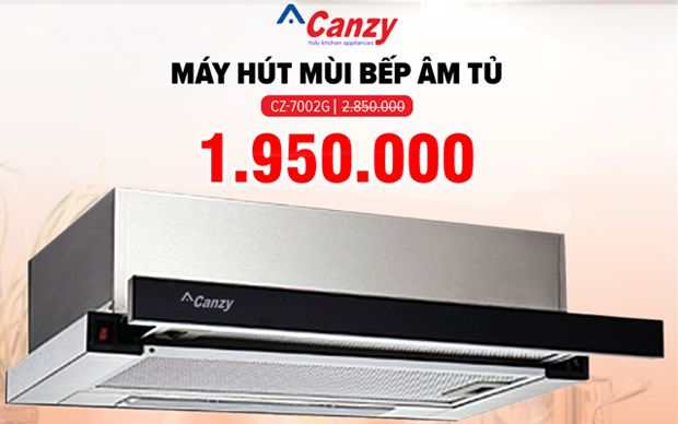 Xả kho máy hút mùi âm tủ 7 tấc Canzy CZ-7002G
