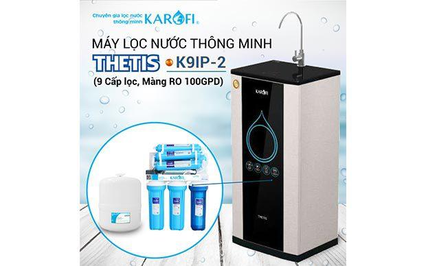 Máy lọc nước RO KAROFI THETIS K9IP-2 (9 cấp lọc, lõi Hydrogen)