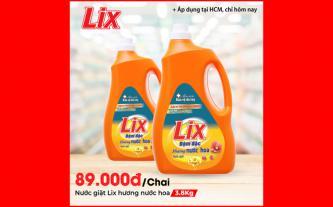 Nước giặt Lix hương nước hoa 3.8Kg