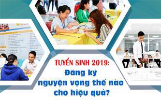 Tuyển sinh 2019 đăng ký nguyện vọng thế nào cho hiệu quả