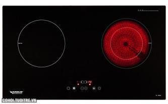 Bếp điện từ và hồng ngoại đôi Taka TK-IR02C