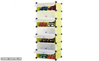 Tủ giày dép đa năng 7 ngăn Tupper Cabinet TC-7Y-W