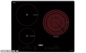 Bếp 1 hồng ngoại 2 điện từ Chef's EH-MIX545