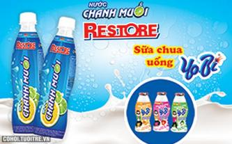 Bổ dưỡng với sữa chua Yobi, nước chanh muối Restore