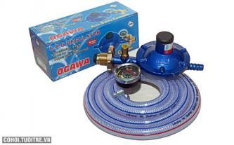 Bộ dây van ngắt gas điều áp có đồng hồ Ogawa NA-777