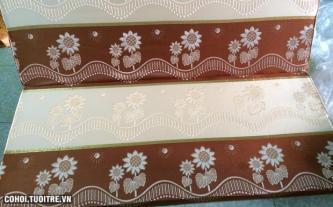 Nệm bông ép BH 15 năm vải gấm Thổ Cẩm