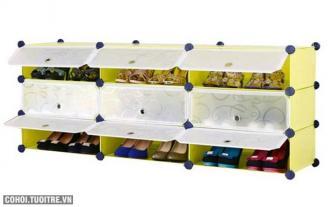 Tủ giày dép đa năng 9 ngăn Tupper Cabinet TC-9Y-W1