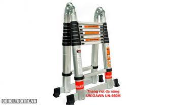 Thang rút đôi chữ A 5.6m Unigawa UN 560M giá tốt