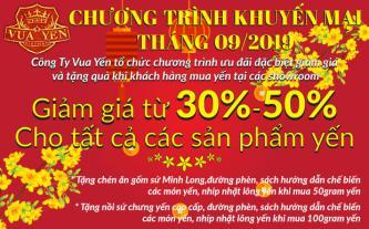 Yến sào Khánh Hòa ưu đãi mừng Quốc Khánh 2/9