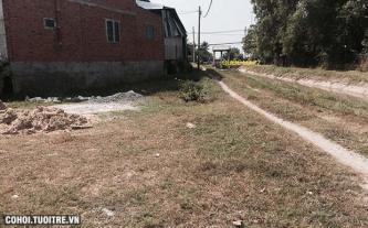 Sang nền đất mặt tiền đường đất tại xã Phước Thạnh