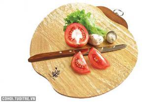 Thớt gỗ Đức Thành kháng khuẩn hình cà chua 02831