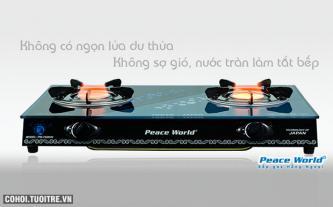 Mua bếp gas Peace World PW-7650 HN tặng bộ nồi 3 đáy