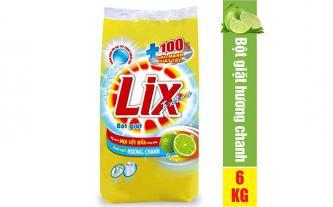 Bột giặt Lix Extra hương chanh 6Kg khuyến mãi 115 ngàn