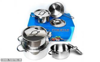 Bộ nồi cao cấp Kit Fivestar inox 10 món - FS10C