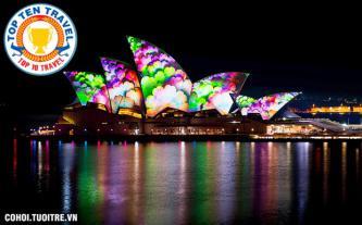 Tour Úc, lễ hội Ánh sáng giá cực sốc