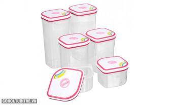 Bộ 6 hộp nhựa Homio PL 13-003