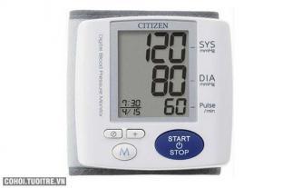 Máy đo huyết áp cổ tay Citizen CH-617