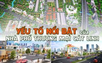Yếu tố nổi bật của nhà phố thương mại Cát Linh