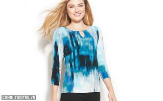 Áo thun nữ hàng hiệu Mỹ Calvin Klein mã O439