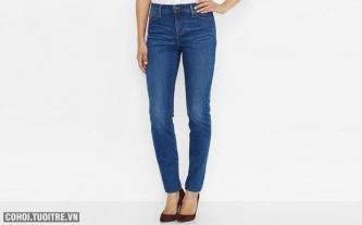 Quần jeans nữ hàng hiệu Mỹ Levi's mã O548