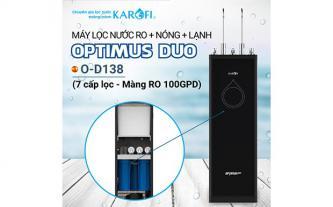 Máy lọc nước RO nóng lạnh 2 vòi KAROFI OPTIMUS DUO O-D138