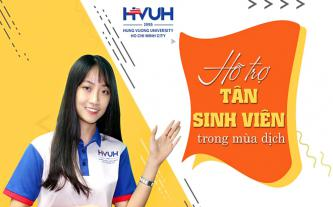 Trường ĐH Hùng Vương TP.HCM hỗ trợ cho tân sinh viên trong mùa dịch