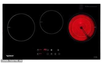 Bếp 2 điện từ - 1 hồng ngoại Taka TK-IR03C