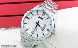 Đồng hồ inox chống nước Skmei