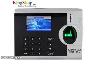 Máy chấm công vân tay và thẻ cảm ứng Ronald Jack 4000TID-C