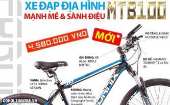 Xe đạp địa hình MTB100 mạnh mẽ sành điệu